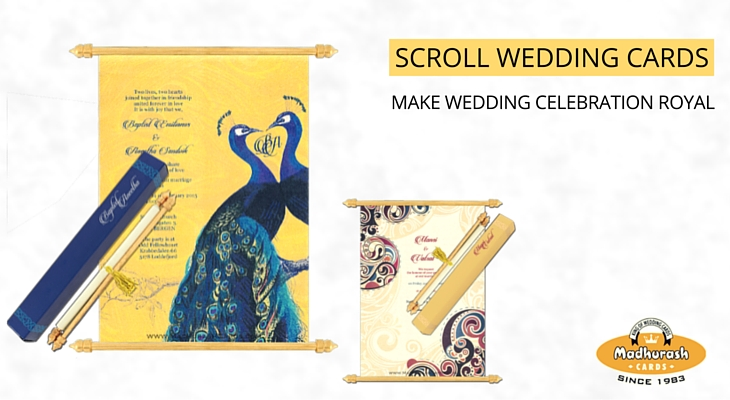 Make Marriage Ceremony Celebration Royal with Scroll Invitation Cards - My Wedding invitations